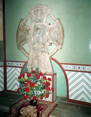 ο τάφος της οσία Ξ�νιας στο παρεκκλησιό της μ�σα στο Κοιμητήριο Σμολ�νσκ της Αγ. Πετρούπολης